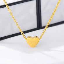 Load image into Gallery viewer, Choker Necklace Stainless Steel Rose Gold Color Dainty Heart Pendant Necklaces For Women Wedding Jewelry Kolye Bridesmaid Gifts