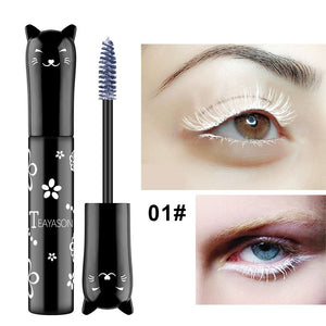 Traci K Beauty Cat Colored Fashion Sexy White Mascara Makeup 4D Silk Fiber Lash Mascara Waterproof Rimel 3d Mascara Extension Thick Long Curling Eyelash