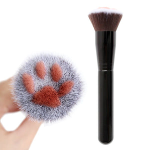 Traci K Beauty 1Pc Cute Cat Claw Paw Women Makeup Soft Fibre Wooden Brush Loose Powder Blush Contour Face Make up Foundation Repair Brush Tool