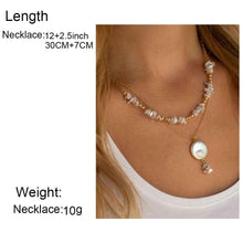Load image into Gallery viewer, Multi Layer Coin Pearl Necklace for Women 2020 Fashion Natural Freshwater Pearl Pendant Necklace Boho Jewelry Best Friend Gift