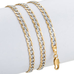 Trendsmax Gold Chain Necklace Men Women Cuban Link Chain Male Necklace Fashion Men's Jewelry Wholesale Gifts 4mm GN64
