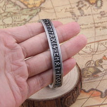 Load image into Gallery viewer, 1pc Men's Handmade Nordic Rune Bangle Viking