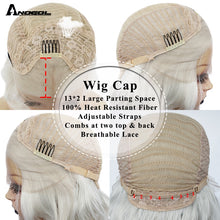 Load image into Gallery viewer, Short Body Wave Bob White Blonde Free Part Wave High Temperature Fiber Synthetic Hair Lace Front Wigs For Drag Queen