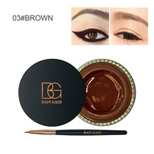 Load image into Gallery viewer, Traci K Beauty Glazed Fix Line Eyeliner Gel for Women with Brush Semi Permanent Waterproof Eyebrow Gel for Women Beauty Winged Liner