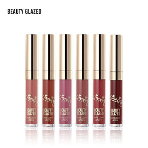 Traci K BEAUTY GLAZED Brand Lip Makeup Lipstick Lip Gloss Matte Easy To Wear Long-lasting Waterproof Lip Gloss Lip 6 Colors In Set