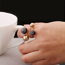 Load image into Gallery viewer, Ball Resin Little Golden Beans Ring Simple Jewelry Personality Punk Ring SIZE 18mm Retail&Wholesale For Women Free Shipping
