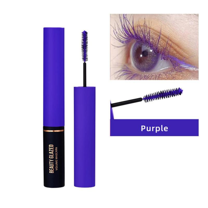 Traci K BEAUTY GLAZED 3D Mascara Lengthening Black Lash Eyelash Extension Eye Lashes Brush Beauty Makeup Long-wearing Colorful  Mascara
