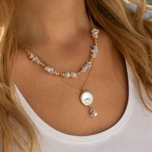 Multi Layer Coin Pearl Necklace for Women 2020 Fashion Natural Freshwater Pearl Pendant Necklace Boho Jewelry Best Friend Gift