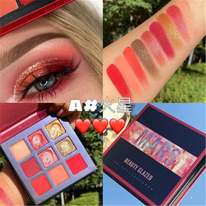 Traci K BEAUTY GLAZED Universe  Eyeshadow Palettes Holographic Universe Shiny Matte Glitter Pigment Eye Shadow Pallete Metallic Diamond Makeup Palette