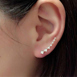 1Pair Rhinestone Crystal Earrings Ear Hook Stud Hot Sale Fashion Jewelry Fashion Hot Sale Jewelry Aretes