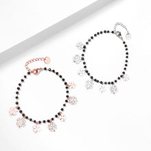Load image into Gallery viewer, Trendy Women Summer Accessories Bracelet Stainless Steel Charms Black Crystal Beads Chain Multi Clovers Jewelry 2020 New Design