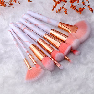 Traci K Beauty FLD5/15Pcs Makeup Brushes Tool Set Cosmetic Powder Eye Shadow Foundation Blush Blending Beauty Make Up Brush Maquiagem