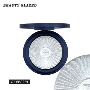 Traci K BEAUTY GLAZED Highlighter Powder Palette Face Contouring Makeup Eyeshadow Palette Face Bronzer Highlighter Brighten Skin 8 Color