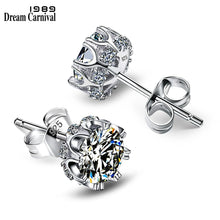 Load image into Gallery viewer, DreamCarnival 1989 Popular Style Sterling Silver 925 High Quality Zircon Stone White Luxury Daily Wear Silver Earrings