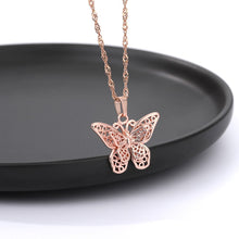 Load image into Gallery viewer, Butterfly Necklace for Women Stainless Steel Butterflies Pendant Necklace Gold Silver Color Charms Choker Boho Aesthetic Jewelry