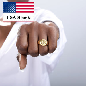 Simple Square Signet Ring for Women Gold With Polished Finger Rings Punk Ring Jewelry Stainless Steel jewelry Gift