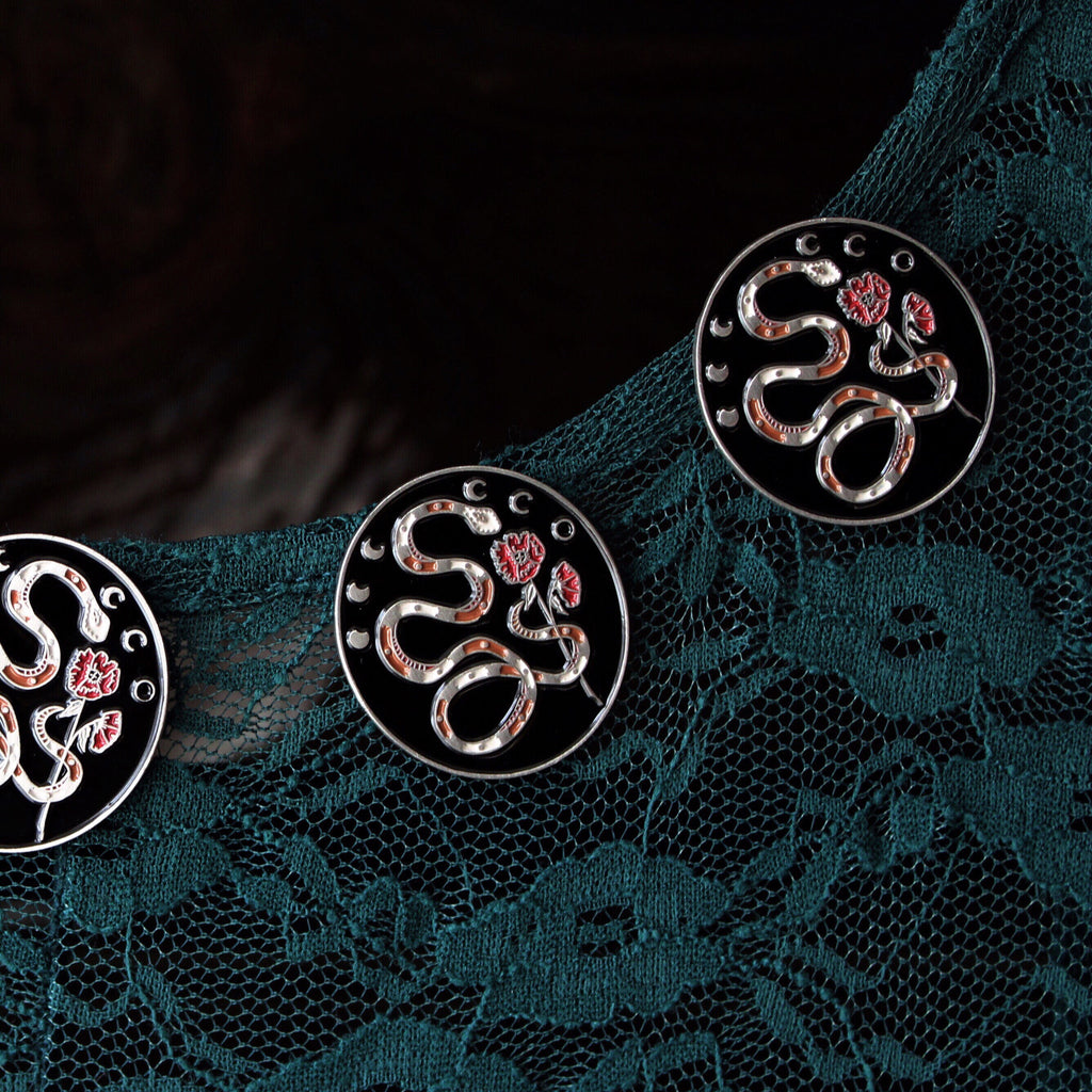 Serpent & Poppy Lapel Pin