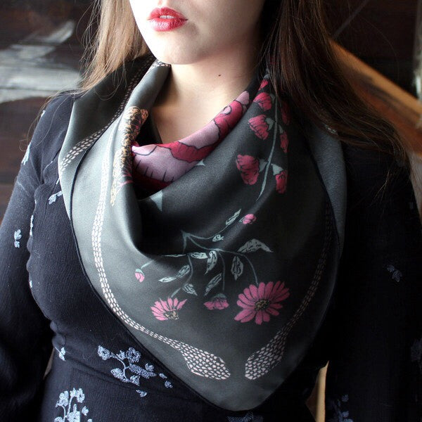 Serpentine Silk Scarf