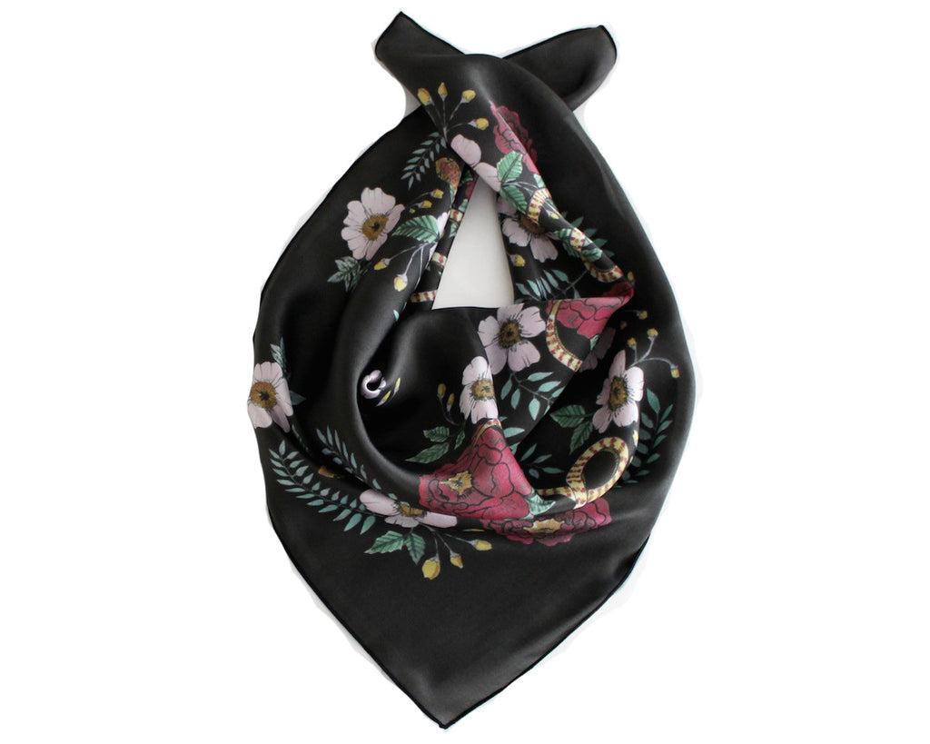 Serpent Garden Silk Scarf