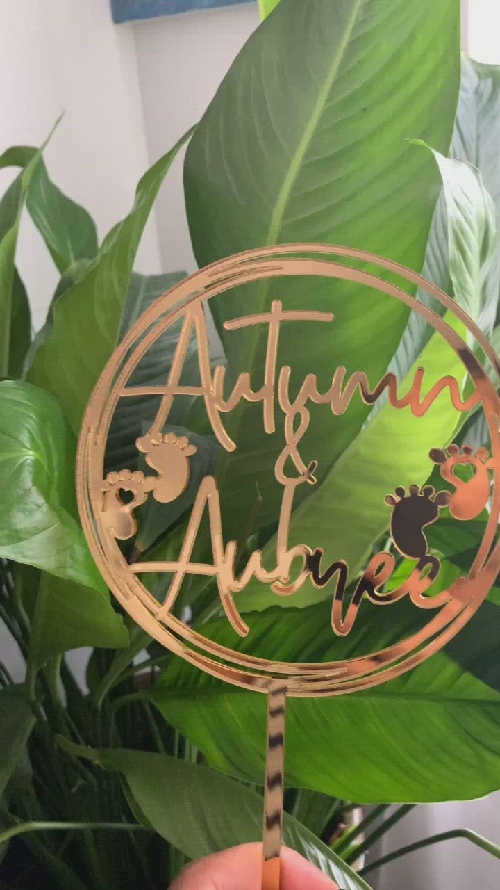 Autumn & Aubree | Custom Cake Topper