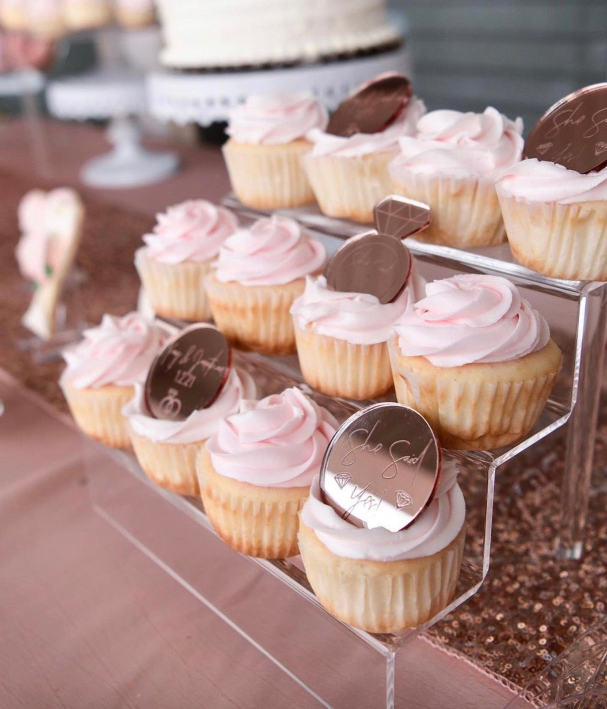 Engagement | Bridal Party Proposal Cupcake Toppers