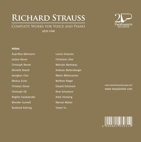 Richard Strauss - Complete Works for Voice and Piano