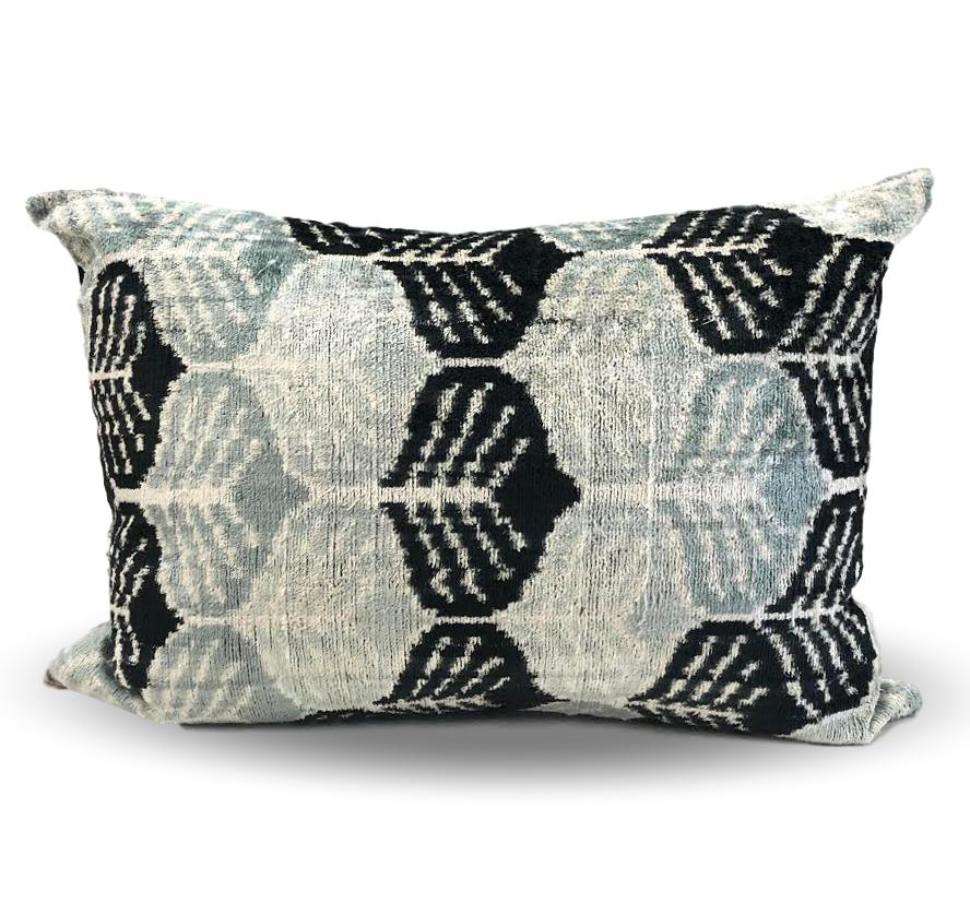 Teal and Black pillow