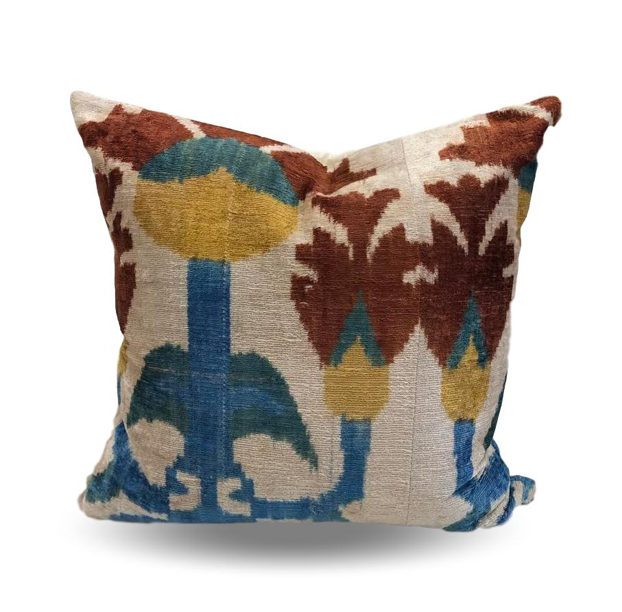 Turquiose & Rust Abstract pillow