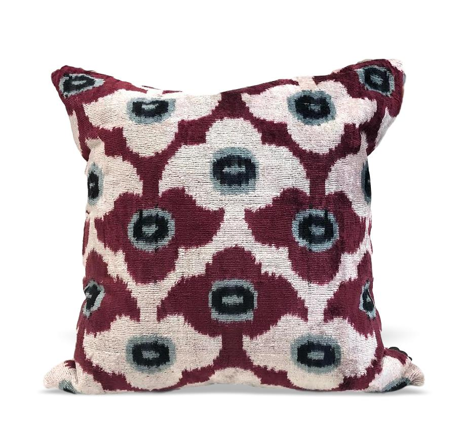 Burgandy, Grey & Black pillows