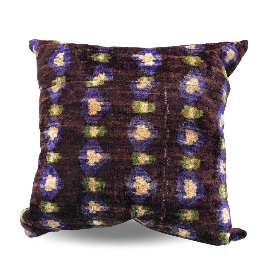 Purple, Green & Chocolate pillow