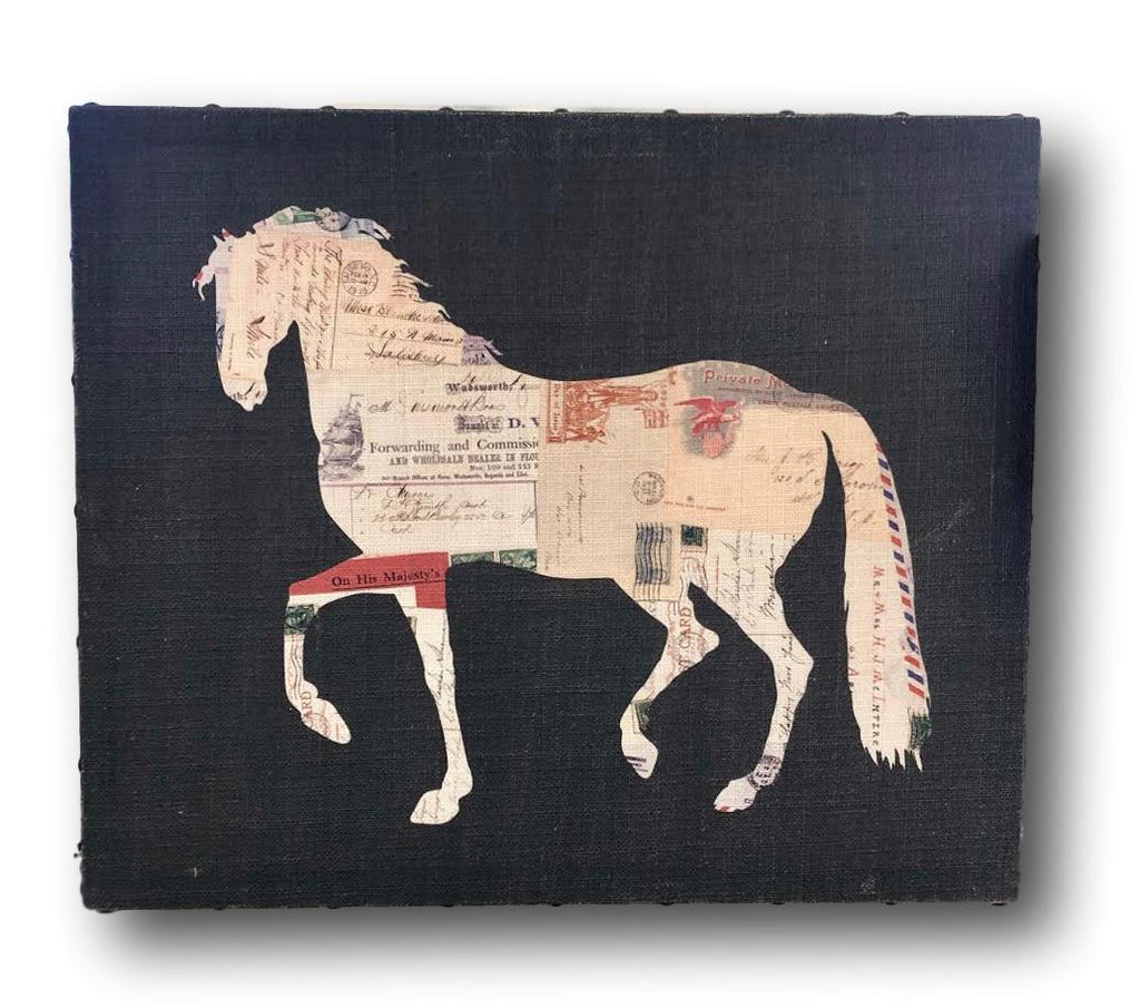 Paris Horse Canvas with Nailheads