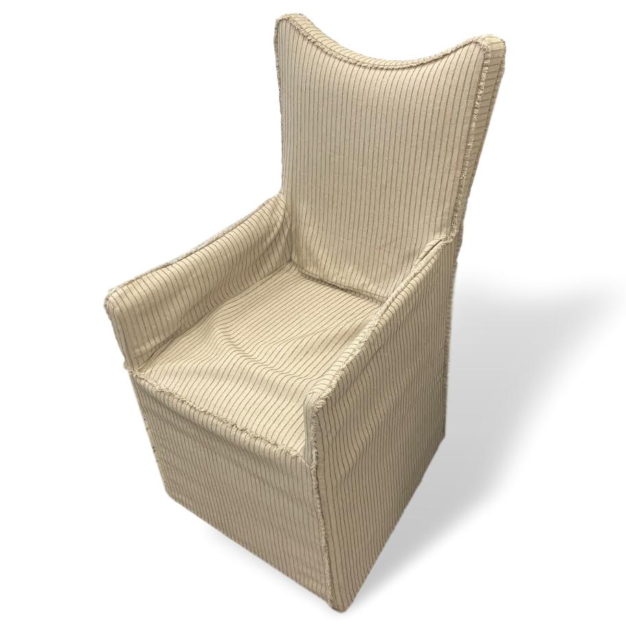 Armchairs with slipcovers