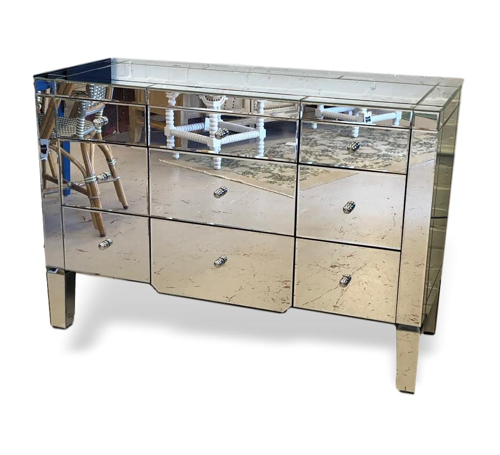 Catherine 9 drawers mirrorm chest