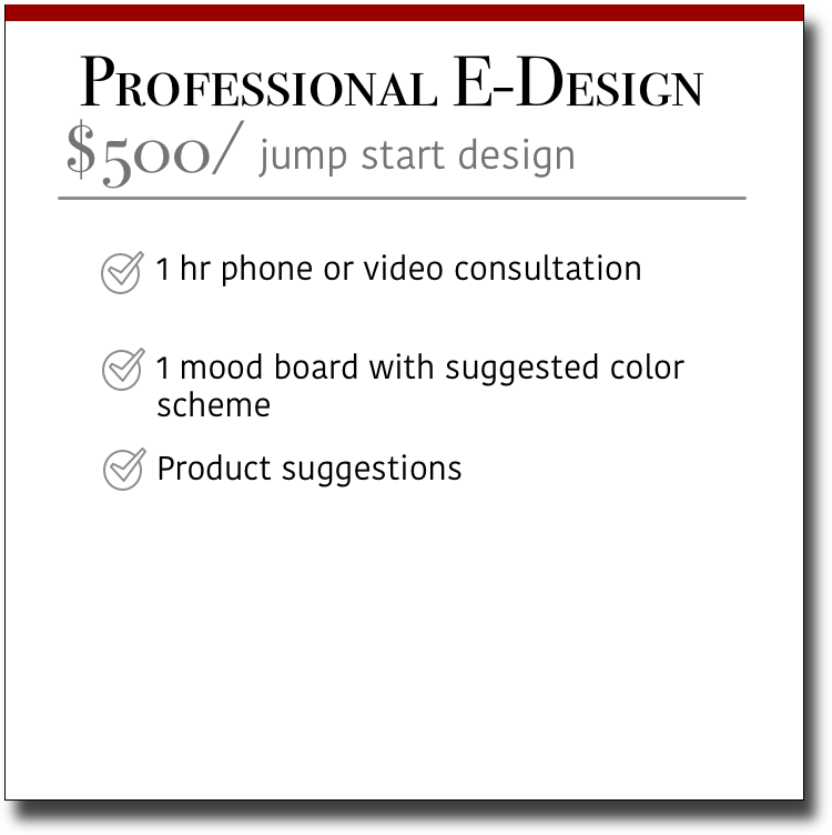 Professional E-Design Jump Start Design