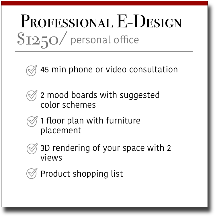 Professional E-Design Personal Office
