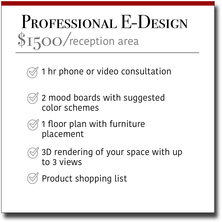 Professional E-Design Reception