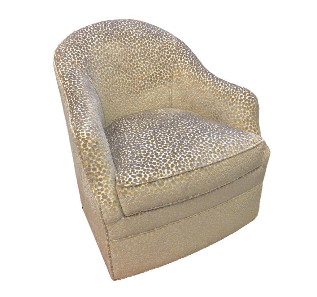 Custom Upholstered Swivel Arm Chair