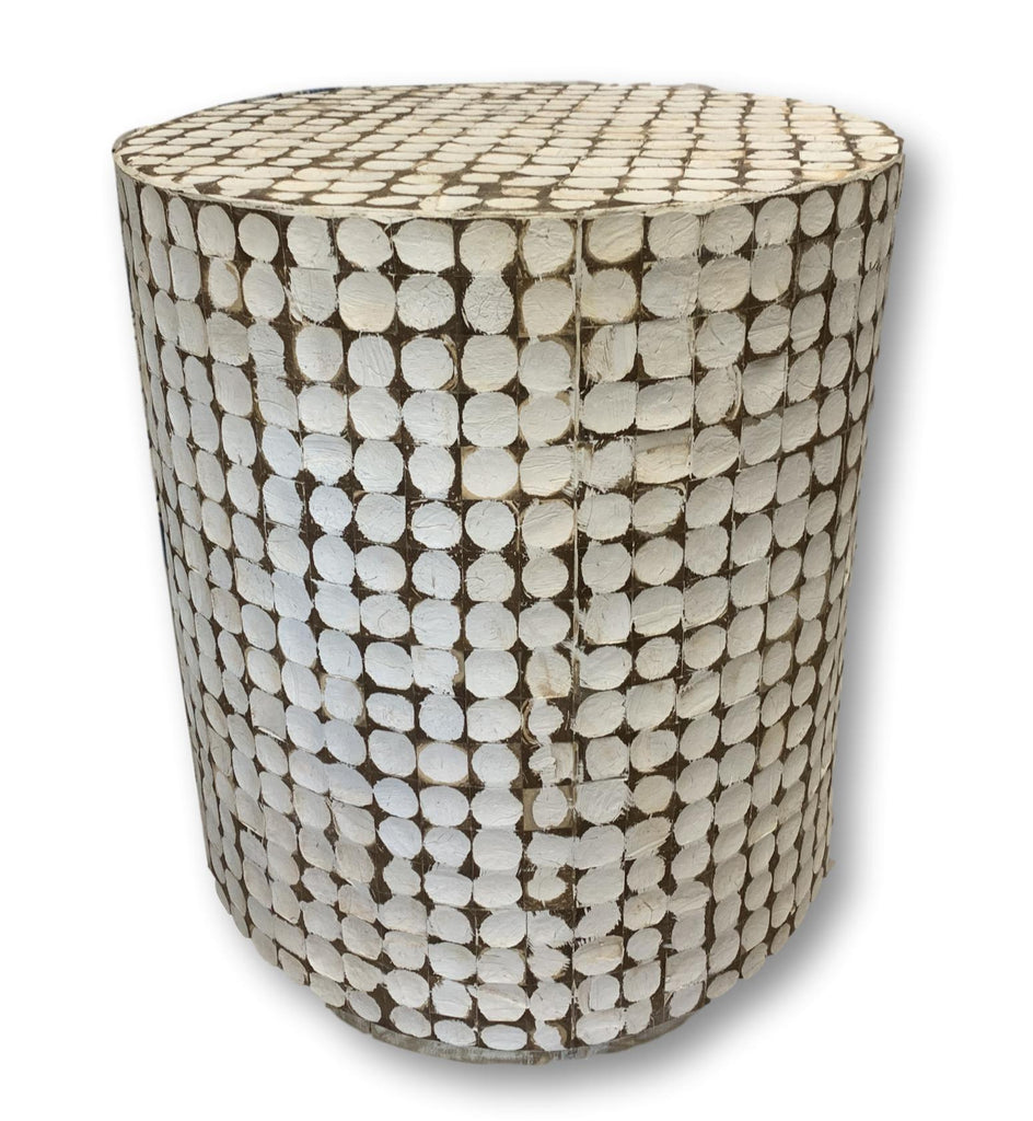 Unique White Cylinder Table