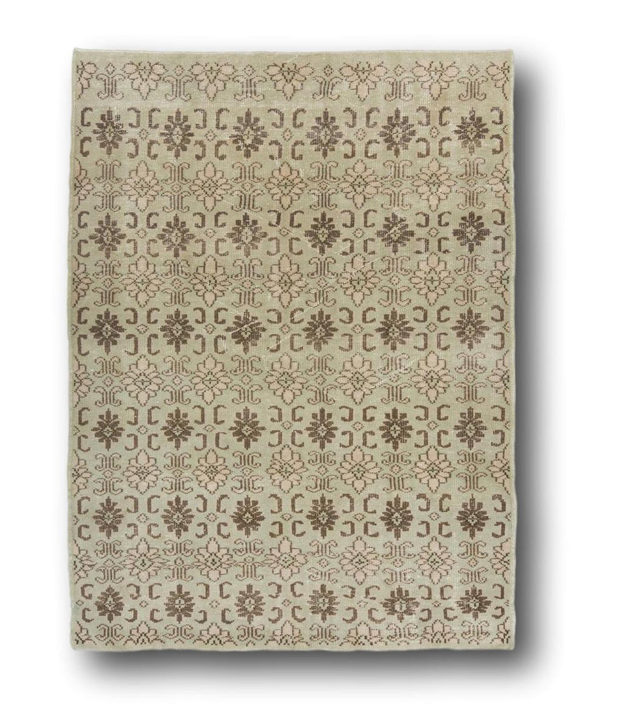 Beige Brown & Green Rug