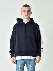 Oversized Track Hoodie - Navy