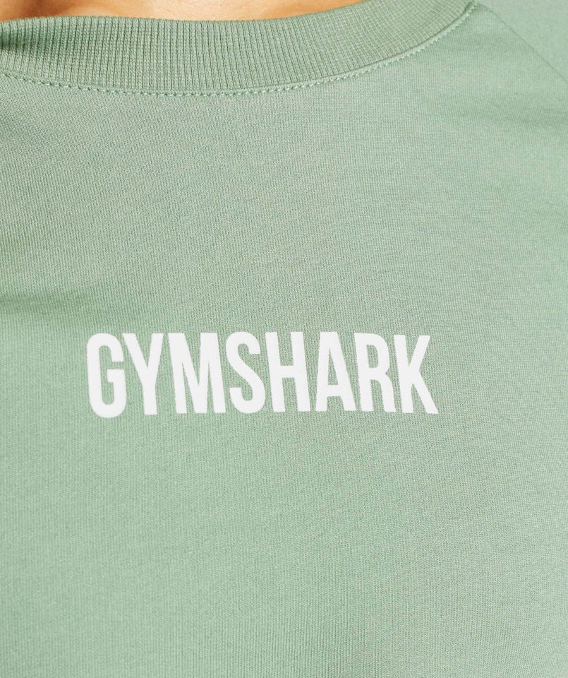 Gymshark Training Cropped Sweater - Green