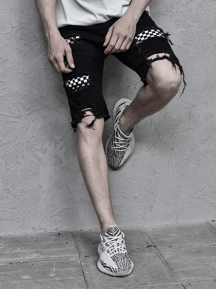 Checkered Shorts - Black