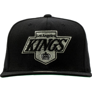 MITCHELL AND NESS LOS ANGELES KINGS NHL SNAPBACK HAT MEN'S - BLACK/GREY