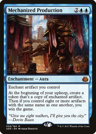Mechanized Production [Aether Revolt] | MTG Oasis Chile
