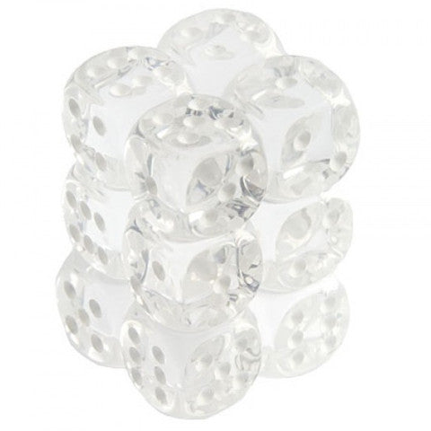 Chessex: D6 Translucent Dice Set - 16mm x 12 | MTG Oasis Chile