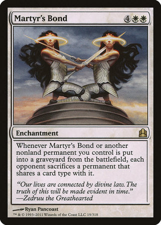 Martyr's Bond [Commander 2011] | MTG Oasis Chile