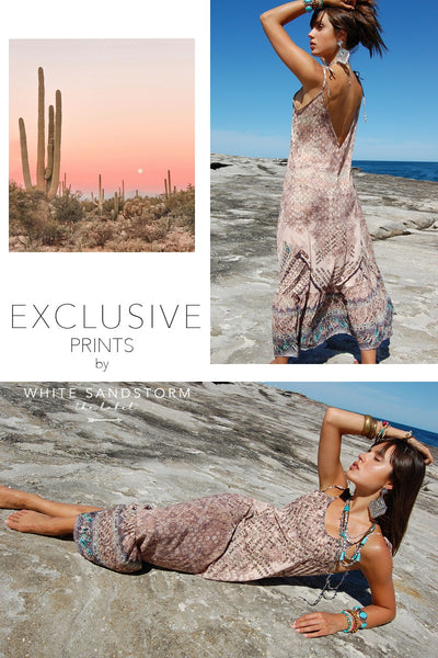 Crystal Croc Maxi Dress
