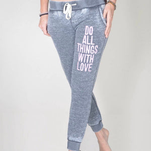 Do Things With Love Yoga Pants