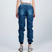 Load image into Gallery viewer, Stripe Banded Denim Jogger Pant