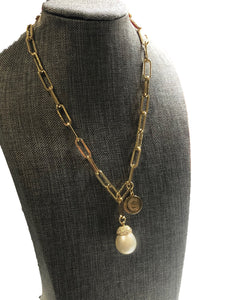 Mia Pearl & Charm Necklace